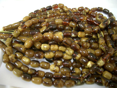 Box shape loose amber beads - Baltic amber - natural authentic baltic amber beads