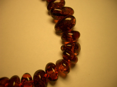 Baroque amber beads - amber beads (undrilled)