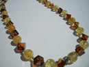 Baltic beaded necklaces - fancy amber necklaces - baltic amber bead necklace - cubic amber necklace - wholesale