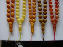 Olive shape amber rosaries - worry beads - prayer beads