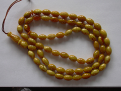 Amber rosary prayer beads - chocolate olive amber beads