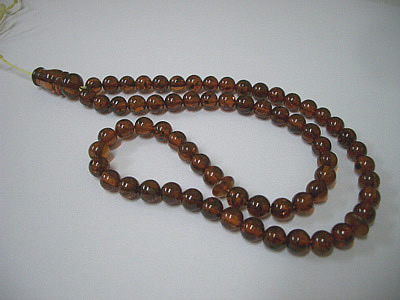 Cognac color amber rosary